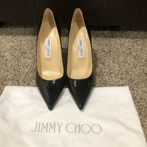 GORGEOUS Jimmy Choo black patent heels 37 1/2